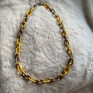 Yellow and gold JCrew necklace